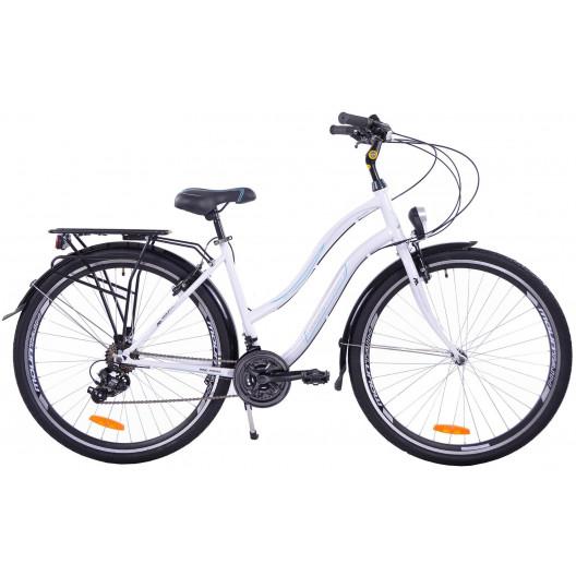 Bicykel 28 Mountain Core lady bielo-modrý