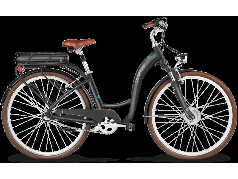 """Elektrický bicykel Le Grand eLille 1D 28M (17"""") grafitový akvamarínový lesk"""