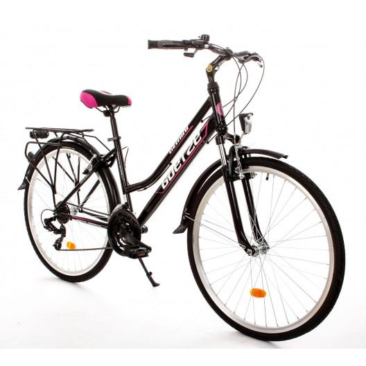"Bicykel GOETZE GEMINI 28"" TREKINGOVÝ ružovo čierny"