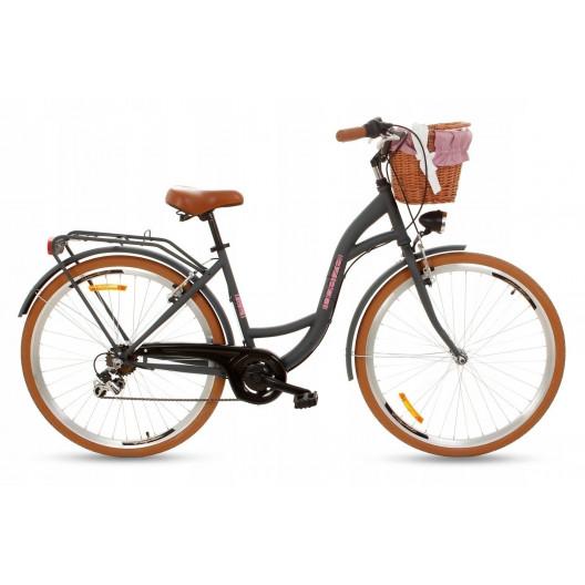 """Retro Mestský Bicykel Goetze MOOD 28"""" 7 Prevodový Grafitový"""
