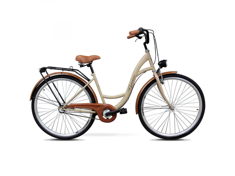 "Retro Bicykel GOETZE CLASSIC 28"" 3 Prevodový Cappucino"