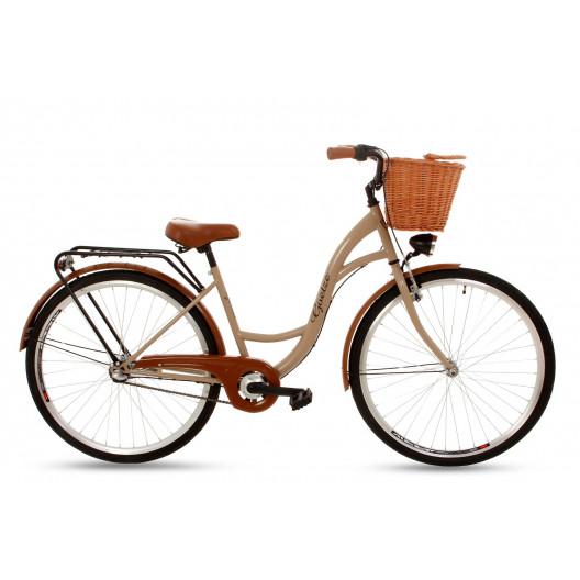 """Retro Bicykel GOETZE CLASSIC 26""""/28"""" 3 Prevodový Cappucino+Košík Grátis"""