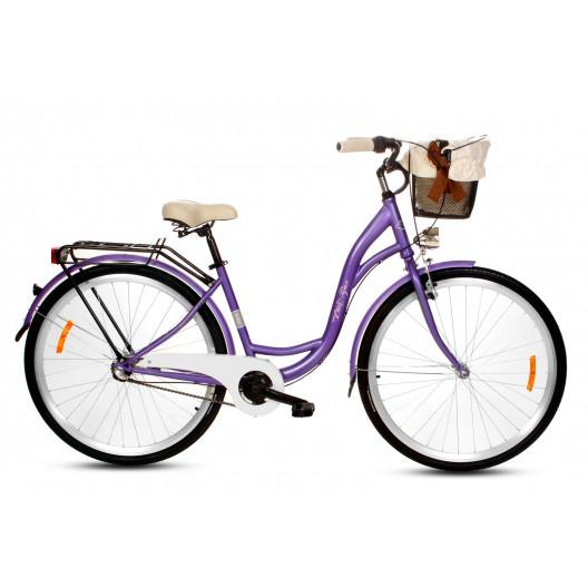 """Retro Bicykel GOETZE PURE Limited 26""""/28"""" 3 prevodový Fialový 2020+košík"""