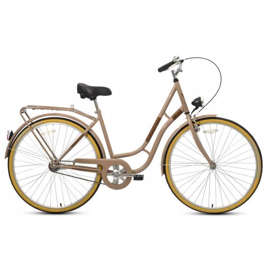 """Retro bicykel KANDS LAGUNA 26"""" 1 prevodový Krémový 2020"""