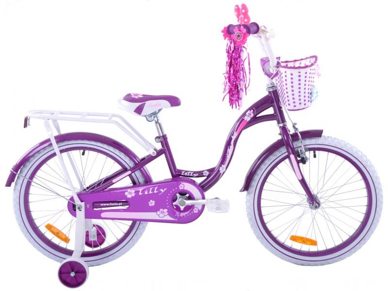 """Detský Bicykel Lilly 20"""" Fialový"""