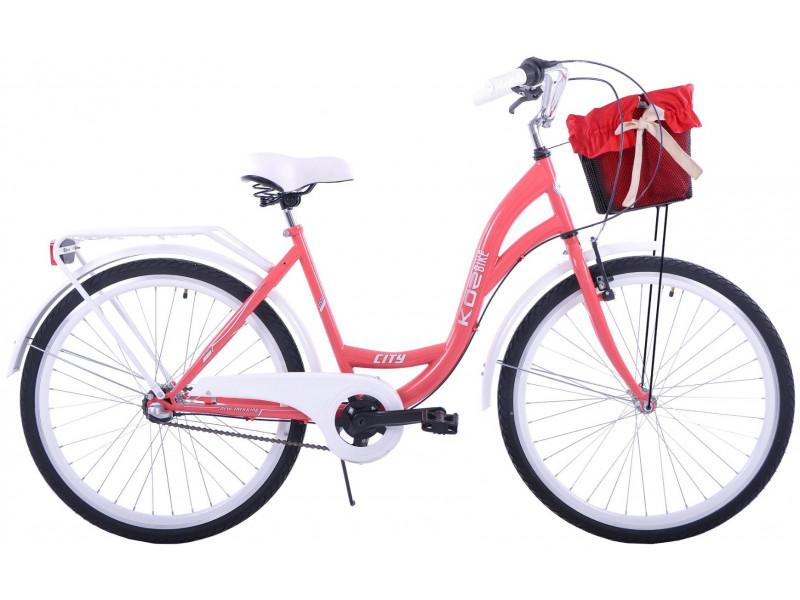 """Retro Bicykel KOZBIKE 26""""/28"""" 3 Prevodový Koralový +košík"""