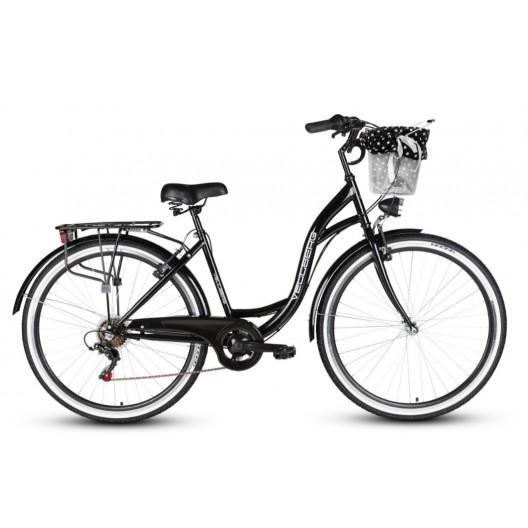 """Retro Bicykel VELLBERG HAVANA 28"""" 7 prevodový čierny+ košík grátis"""