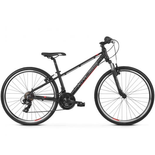 Bicykel Kross Evado Jr 1.0 čierna / červená / strieborná mat