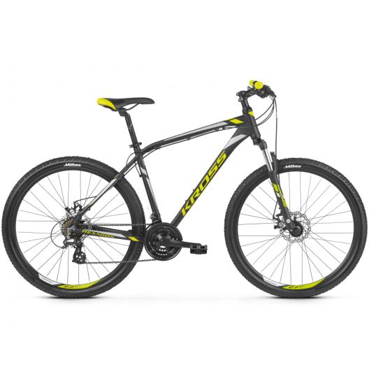 "Bicykel KROSS HEXAGON 3.0 26 S17 ""čierno-lim-strieborný matný"