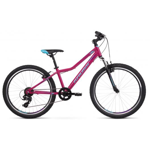 Bicykel Kross Lea JR 1.0 24 ružovo-modro-fialovo lesklý