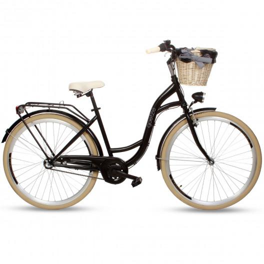 """Dámsky Retro Bicykel GOETZE Colours 28"""" 3 Prevodový čierny"""