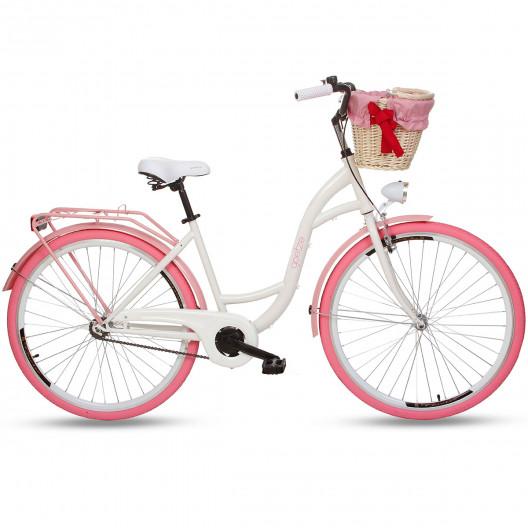 "Retro Bicykel GOETZE Colours 28"" 1 Prevodový NOVINKA+košík"