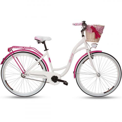 """Retro Bicykel GOETZE BLUEBERRY 28"""" 1 Prevodový Ružový+košík grátis"""