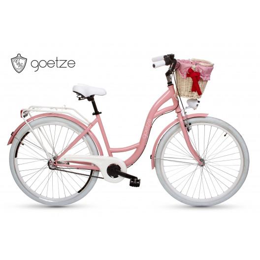 """Retro Bicykel GOETZE COLOURS 28"""" 3 Prevodový Ružový+košík grátis"""