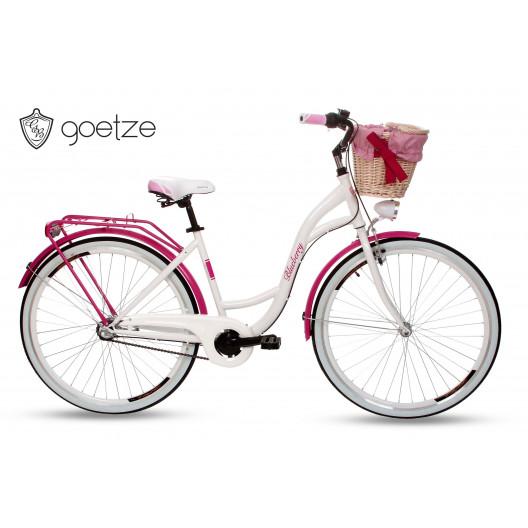"""Retro Bicykel GOETZE BLUEBERRY 28"""" 3 Prevodový Ružový+košík 2020"""