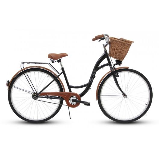 """Retro Bicykel GOETZE ECO 26""""/28"""" 1 Prevodový Čierny+košík grátis"""
