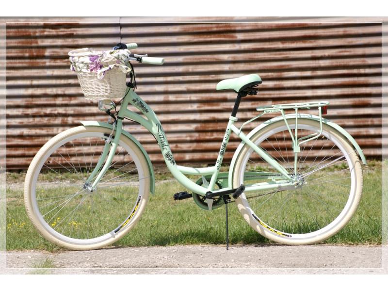 "Dámsky Retro Bicykel LAVIDA 28"" Mentolový 3 Prevodový +košík grátis"