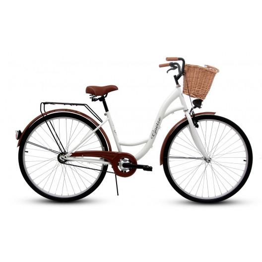 """Retro Bicykel GOETZE ECO 26""""/28"""" 1 Prevodový Biely+Košík Grátis"""