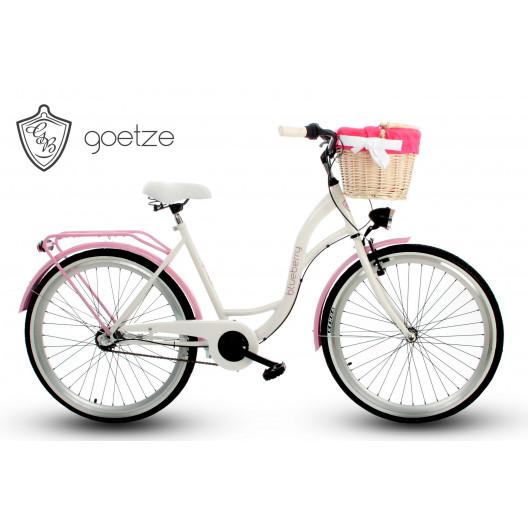 """Retro Bicykel GOETZE BLUEBERRY 26"""" 3 Prevodový Ružový+Košík Grátis"""