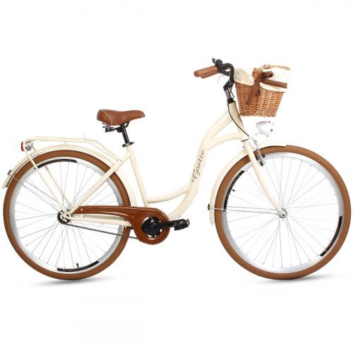 "Retro Bicykel GOETZE COLOURS LTD 28"" 1 Prevodový Maslový+Košík"