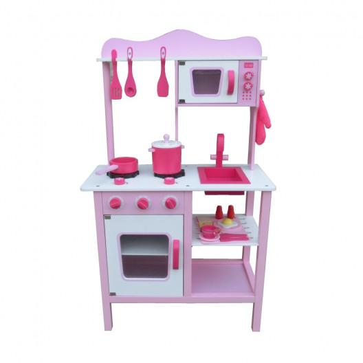 Wooden Toys Detská Kuchynka Classic Ružová