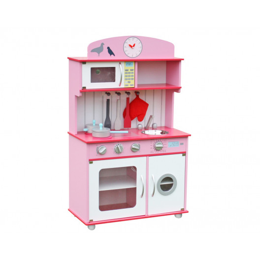 Wooden Toys Detská Drevená kuchynka SOFIA ružová