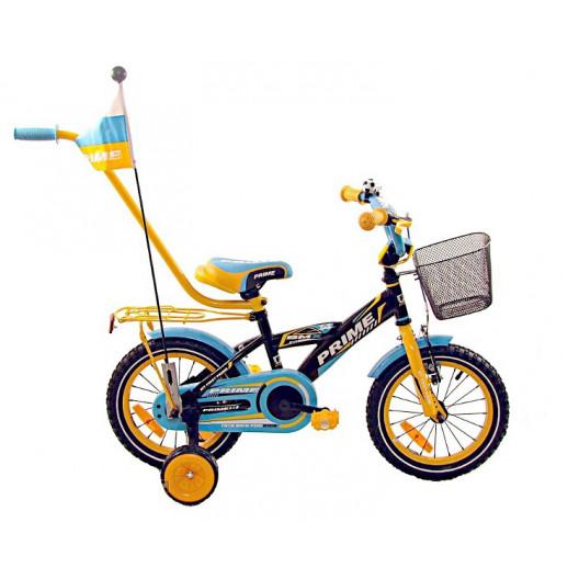"""Detský Bicykel BMX PRIME 14"""" Čierno/modrý"""
