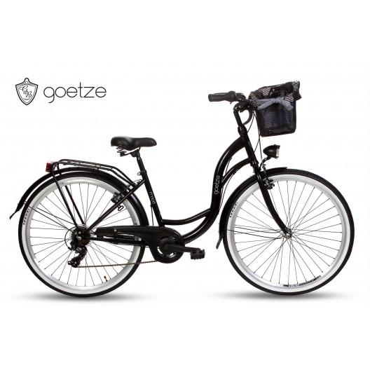 """Retro Mestský Bicykel Goetze MOOD 28"""" 7 Prevodový Čierny 2020"""