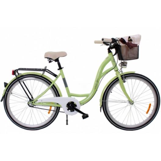 """Retro Bicykel GOETZE LIMITED 26"""" 3 Prevodový Limetkový+košík 2020"""