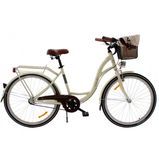 """Retro Bicykel GOETZE LIMITED 26"""" 3 Prevodový Smotanový 2020+košík"""