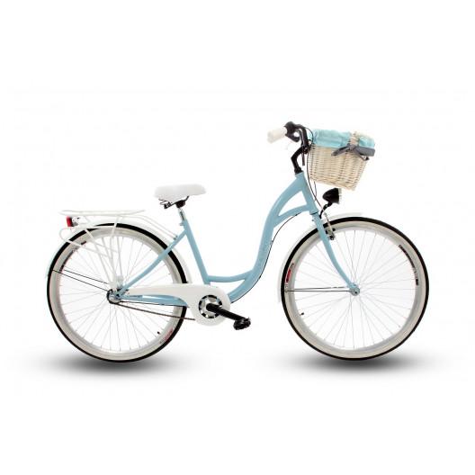 """Retro Bicykel GOETZE LTD 28"""" 3 Prevodový Svetlo modrý +košík grátis"""