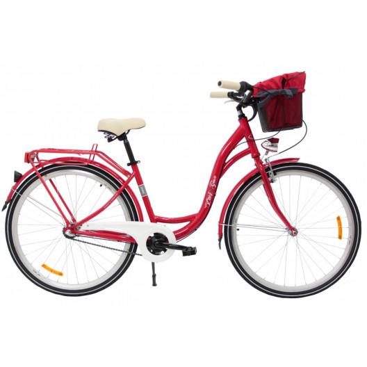 """Retro Bicykel GOETZE PURE LIMITED 28"""" 3 Prevodový 2020 Červený+košík"""