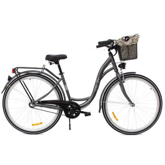 """Retro Bicykel GOETZE LIMITED 28"""" 1 Prevodový Grafitový+košík  2020"""