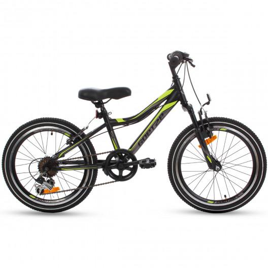 """Detský Bicykel GOETZE COOLER 20"""" čierno-zelená"""