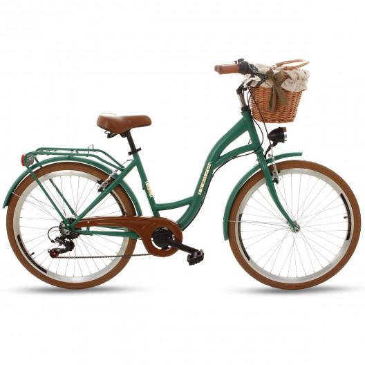"Retro Mestský Bicykel Goetze MOOD 26"" 7 Prevodový Zelený"