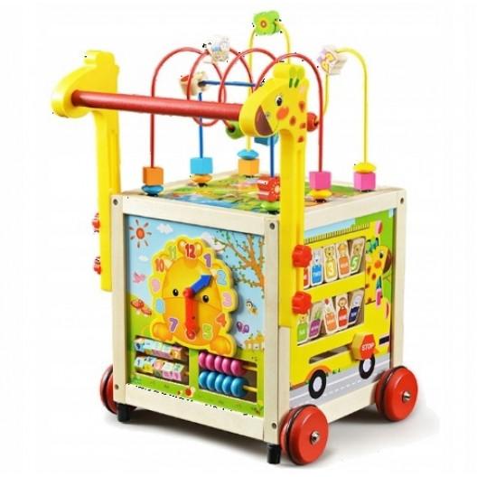 Wooden Toys Drevená interaktívna hračka chodítko W16