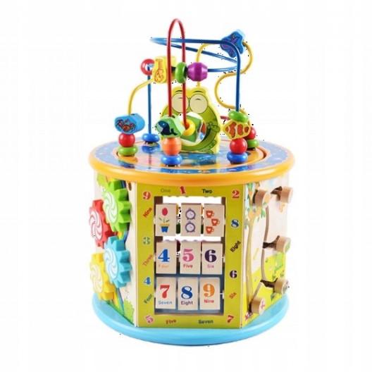 Wooden Toys Drevená výučbová kocka na hrannie