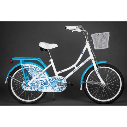 """Detský bicykel 20"""" CITY LADY 2019 MODRO/BIELY"""