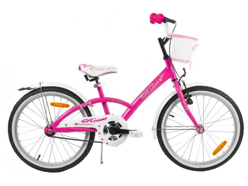 """Detský bicykel 20"""" ROSES 2019 RUŽOVÝ"""