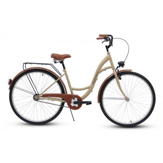 """Retro Bicykel GOETZE ECO 26""""/28"""" 1 Prevodový cappucino"""