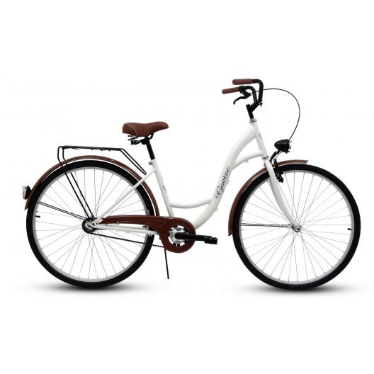 "Retro Bicykel GOETZE ECO 26""/28"" 1 Prevodový Biely"