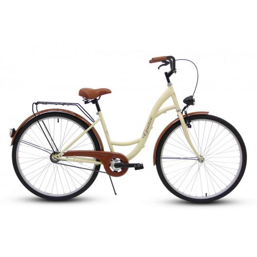 """Retro Bicykel GOETZE ECO 26""""/28"""" 1 Prevodový Krémový"""