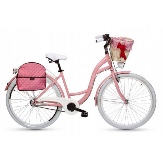 Kabelka/Taška Na RETRO-BICYKEL 15L ružová 02