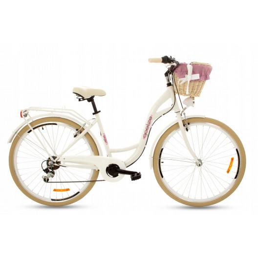 "Retro Mestský Bicykel Goetze MOOD 28"" 7 prevodový krémové kolesá"