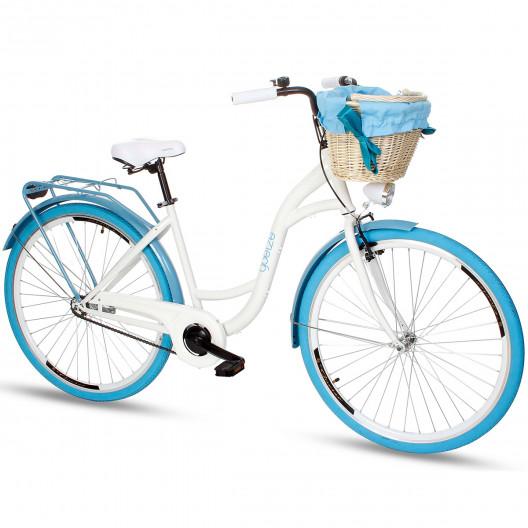 """Retro Bicykel GOETZE COLOURS 26""""/28"""" 1 Prevodový Bielo-modrý"""