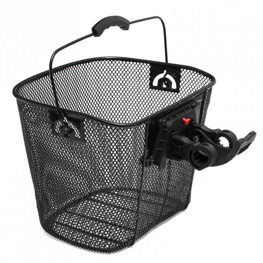 Košík k Bicyklu na KLIK čierny kovový