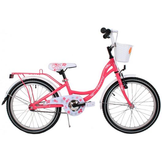"""Detský Bicykel Flower 20"""" Malinový"""