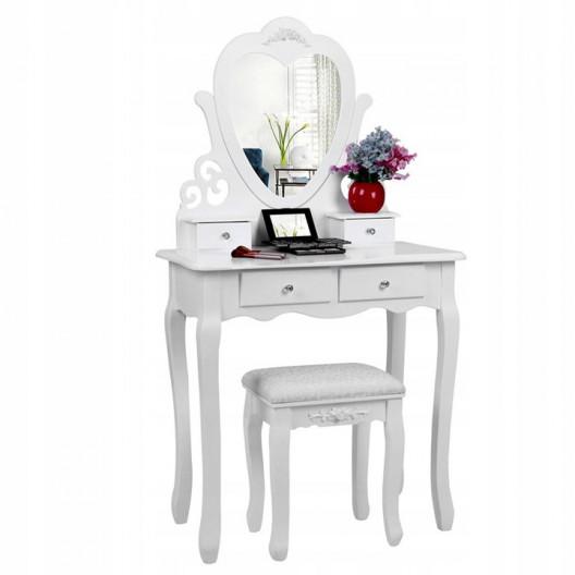 Toaletný Kozmetický stolík ROMANTIC+ LED zrkadlo