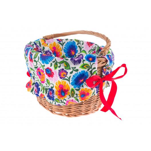 Bavlnená Výplň do košíka vzorovaná kvetinová