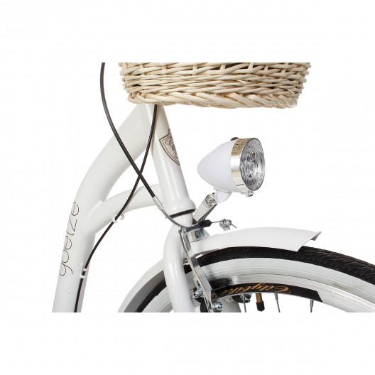 """Retro Bicykel GOETZE Colours 28"""" Biely 3 Prevody+košík grátis"""